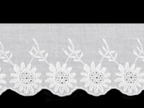 Broderie Anglaise Cotton Eyelet Lace Trim width 60 mm