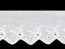 Broderie Anglaise Cotton Eyelet Lace Trim width 62 mm