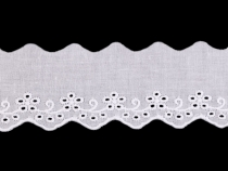 Broderie Anglaise Cotton Eyelet Lace Trim width 50 mm