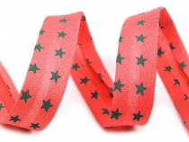 Single Fold Polyester Bias Binding Tape width 14mm Stars