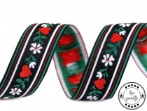 Folk Costume Patterned Ribbon 23 mm