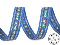 Woven Ribbon Indian Motif width 13 mm