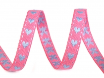 Patterned Ribbon Heart width 10 mm