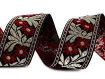 Folk Costume Patterned Ribbon width 40 mm