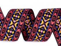 Pattern Jacquard Ribbon Indian motif width 38 mm