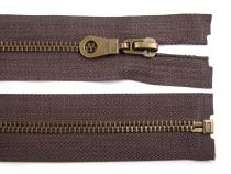 Antique Brass Zipper 6mm open-end 60cm (jacket)