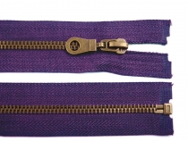 Antique Brass Zipper 6mm open-end 65cm (jacket)