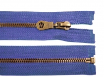 Antique Brass Zipper 6mm open-end 70cm (jacket)