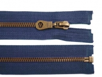 Antique Brass Zipper 6mm open-end 80cm (jacket)
