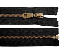 Antique Brass Zipper 6mm open-end 85cm (jacket)