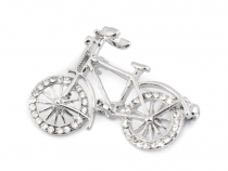 Rhinestone Brooch Bicycle
