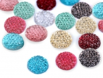 Glitter Glue on Cabochon Gem Ø12 mm