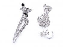Rhinestone Brooch Cat, Dog