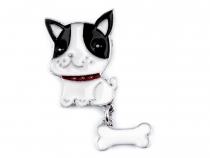 Brooch Dog with Bone