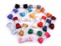 100% Polyester Rattail Satin Cord Ø2mm, bunch per 3m