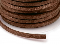 Imitation Leather Flat String width 3 mm with sheen