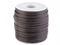Flat Waxed Cotton Cord width 4 mm