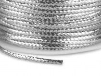 Flat Hollow Cord with Lurex width 2 mm