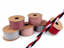 Braided Flat Cord / String / Twine width 2,5 mm Multicolour