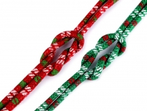 Round Cord with Lurex, Christmas Ø6 mm