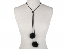 Long Necklace / Choker with Fur