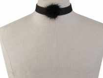Choker / Necklace with Fur