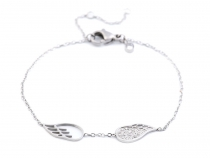 Stainless Steel Wing Bracelet