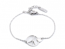 Stainless Steel Chain Bracelet Peace