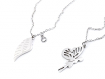 Stainless Steel Chain Necklace Wing, Fairy