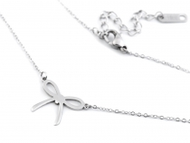Stainless Steel Bow Pendant Necklace