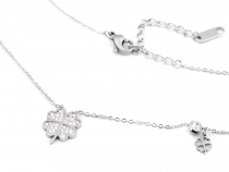 Stainless Steel Chain Necklace Cloverleaf