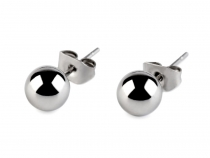 Stainless Steel Ball Stud Earrings