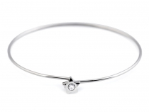 Stainless Steel Bangle Bracelet with Star