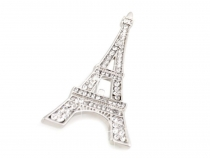 Brooch with Rhinestones Eiffel Tower, Bow