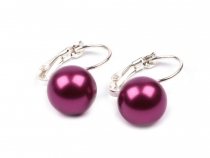 Leverback Earrings with Faux Pearl TEREZA
