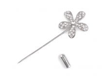 Decorative Rhinestone Flower Pin
