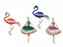 Brooch - Flamingo, Ballerina