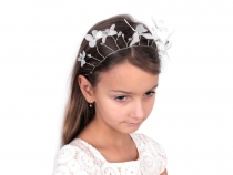 Bridal Hair Accessories, White Flower Hair Circlet