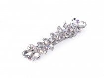 French Hair Clip with AB effect Rhinestones
