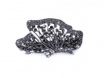 French Hair Clip with Rhinestones Butterfly