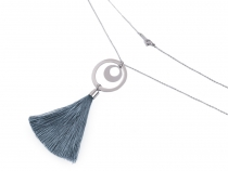Long Stainless Steel Necklace with Tassel
