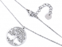 Stainless Steel Necklace - Heart, Tree of Life
