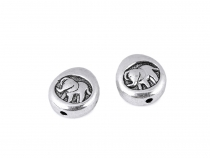 Metal Bead Elephant Ø11 mm