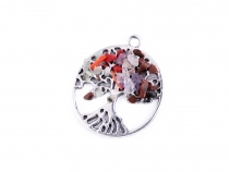 Pendant Tree of Life with Minerals Ø41 mm