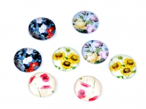 Cabochon Flowers, Poppies, Sunflowers, Roses Ø18 mm