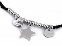 Bracelet with Stainless Steel Heart and Star