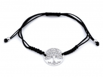 Shamballa Bracelet with Stainless Steel Pendant - Tree of Life