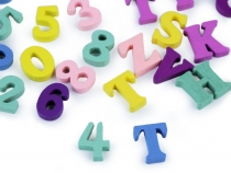 Wooden Alphabet Letters, Numbers 15 mm