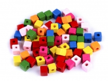 Wooden Beads Cube 6x6 mm