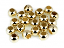 Plastic Metallic Charm Beads 8x10 mm